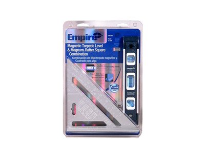 Empire 2990/997 Magnetic Torpedo Level and Rafter Square