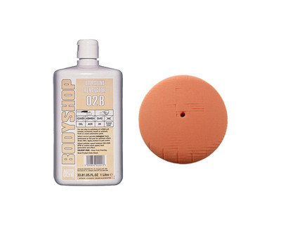 Autoglym Orange Foam Pad & Abrasive Kit 180mm - Ultrafine Polishing