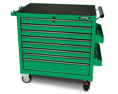 8 Drawer Heavy Duty JUMBO Roller Cabinet - Green