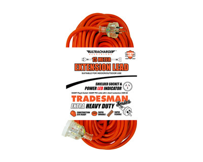 15M Extension Lead Tradesman Heavy Duty - UR240/15T