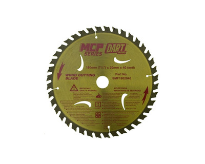 Dart Wood Cutting 180mm dia x 20mm bore x 40T.