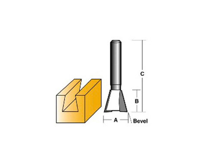 Carb-I-Tool T1016 Dovetail 12.7mm