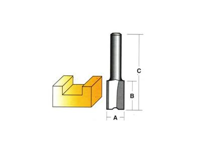 """Carb-I-Tool TX206M Straight Long 6mm 1/4"""" Shank"""