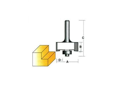 "Carb-I-Tool T1708B Rebating 25.4mm 1/4"" Shank"