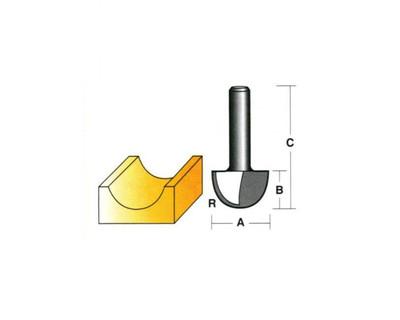 "Carb-I-Tool T4321/2 Core Box 25.4mm 1/2"" Shank"