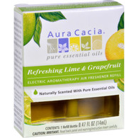 Aura Cacia Air Freshener Refill - Lime and Grape - 3 Pack