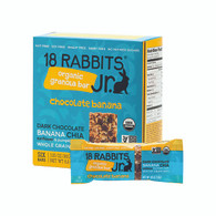18 Rabbits Jr. Granola Bar - Chocolate Banana - Case of 6 - 1.05 oz.