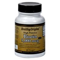 Healthy Origins Biotin - 5000 mcg - 60 Vcaps