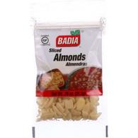 Badia Spices Almonds - Sliced - .75 oz - case of 12