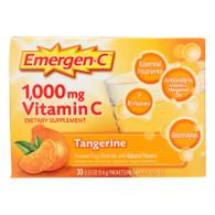 Alacer Emergen-C Vitamin C Fizzy Drink Mix Tangerine - 1000 mg - 30 Packets