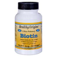 Healthy Origins Biotin - 10,000 mcg - 60 Vcaps