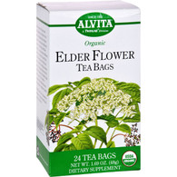 Alvita Teas Organic Elder Flower Tea Bags - 24 Bags