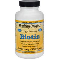 Healthy Origins Biotin - 5000 mcg - 360 Vcaps
