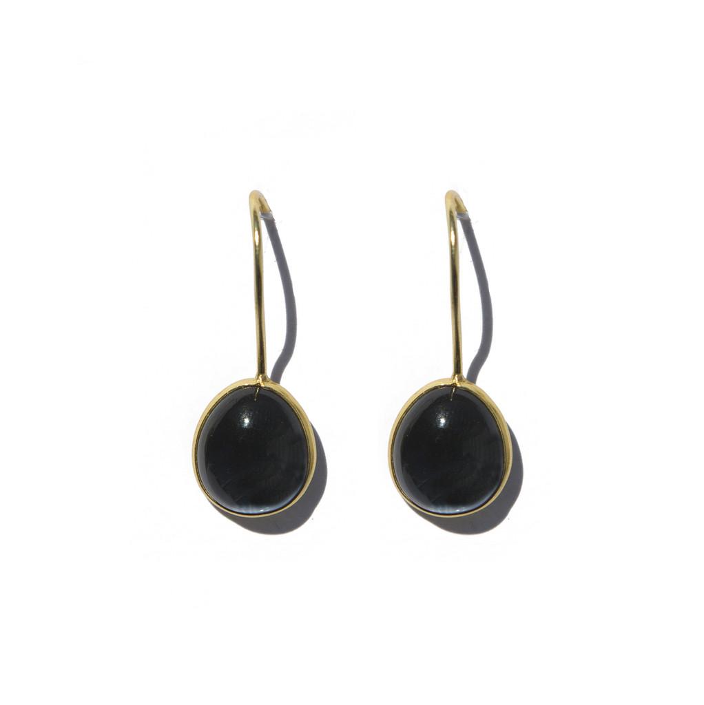 Earrings - Blue Topaz Teardrop