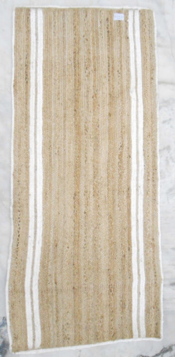 Jute Rug - Double White Stripes