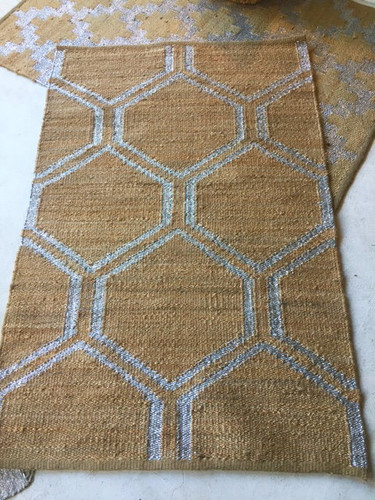 Jute Rug -  Metallic Diamond
