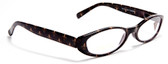Cat eye Women Reading Glasses  Fleur-de-lis pattern with Spring Hinges