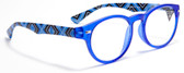 Retro Vintage Reading Glasses Zig-zag  Pattern