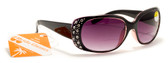 Womens Bifocal Reading Sunglasses Rhinestones Magnifier +125, 150, 200, 250, 300