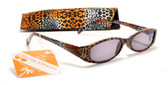 Womens Animal Print Reading Sunglasses w/ Case +1.50 ,2.00 ,2.50 ,3.00 Power Sun Reader