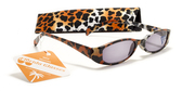 Womens Animal Print Reading Sunglasses w/ Soft Case +1.50 ,2.00 ,2.50 ,3.00 Power Sun Reader