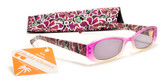 Womens Flower Reading Sunglasses +125, 150, 175, 200, 225, 250, 275, 300 Power Sun Readers