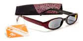Shiny Womens Reading Sunglasses w/ Soft Case +125, 150, 175, 200, 225, 250 Reader Sun Glasses