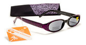Shimmering Womens Reading Sunglasses w/ Soft Case +125, 150, 175, 200, 225, 250 Reader Sun Glasses