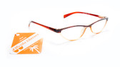Cat Eye Retro Reading Glasses Rhinestone Aspheric Lens Spring Temple