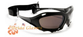Skiing Goggles Motorcycle Vented Black Sunglasses New with Strap