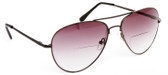 New Aviator Reading Bifocal Sunglasses Brown Gradient Lens Unisex +1.00 ONLY