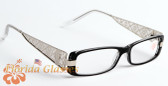 Designer Lace Metal Women Reading Glasses