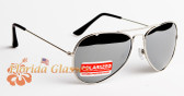 Polarized Mirrored Silver Aviator Sunglasses