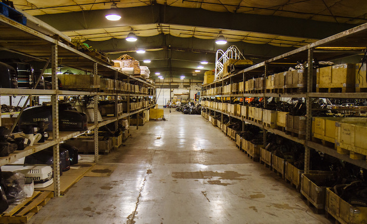 Used Outboard Parts in our Warehouse