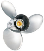 "New 90-300 HP Solas Lexor Stainless Propeller 4 3/4"" Hub, 15 Tooth Spline Thru Hub Exhaust"