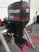 """1995 Johnson 150 HP FastStrike V6 2 Stroke 20"""" Outboard Motor"""
