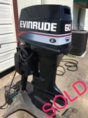 """1992 Evinrude 60 HP 3 Cylinder 2-Stroke 20"""" Outboard Motor"""