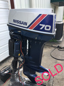 "1991 Nissan 70 HP 2 Cylinder 2-Stroke 20"" Outboard Motor"