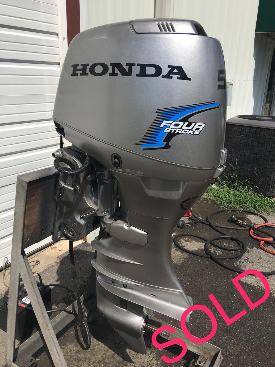 1997 honda 50 hp 3 cylinder 4 stroke 20 outboard motor for Used honda boat motors