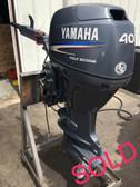 """2006 Yamaha 40 HP 3 Cylinder 4-Stroke 20"""" Tiller Outboard Motor"""