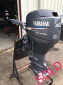"""2008 Yamaha 40 HP 3 Cylinder 4-Stroke 20"""" Tiller Outboard Motor"""