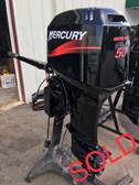 """2000 Mercury 50 HP 3 Cylinder 2-Stroke 20"""" Tiller Outboard Motor"""