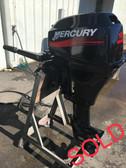 """2000 Mercury 15 HP 2 Cylinder 4-Stroke 20"""" Tiller Outboard Motor"""