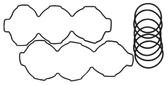 New Aftermarket Mercury/Mariner V6 3.0L 225/250 HP DFI Head O-Ring Kit [2001-2002] [Replaces OEM#s 818453, 818574]