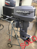 "2000 Johnson 25 HP 2 Cyl. 2-Str. 15"" Tiller Outboard Motor"