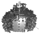 Remanufactured Johnson/Evinrude 88/90/100/115 HP and 1.6L SeaDrive V4 Crossflow Flatback Powerhead, 1978-1998
