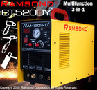 Ramsond CT520DY 3-IN-1 50 Amp Plasma Cutter + 200 Amp TIG and ARC Welder