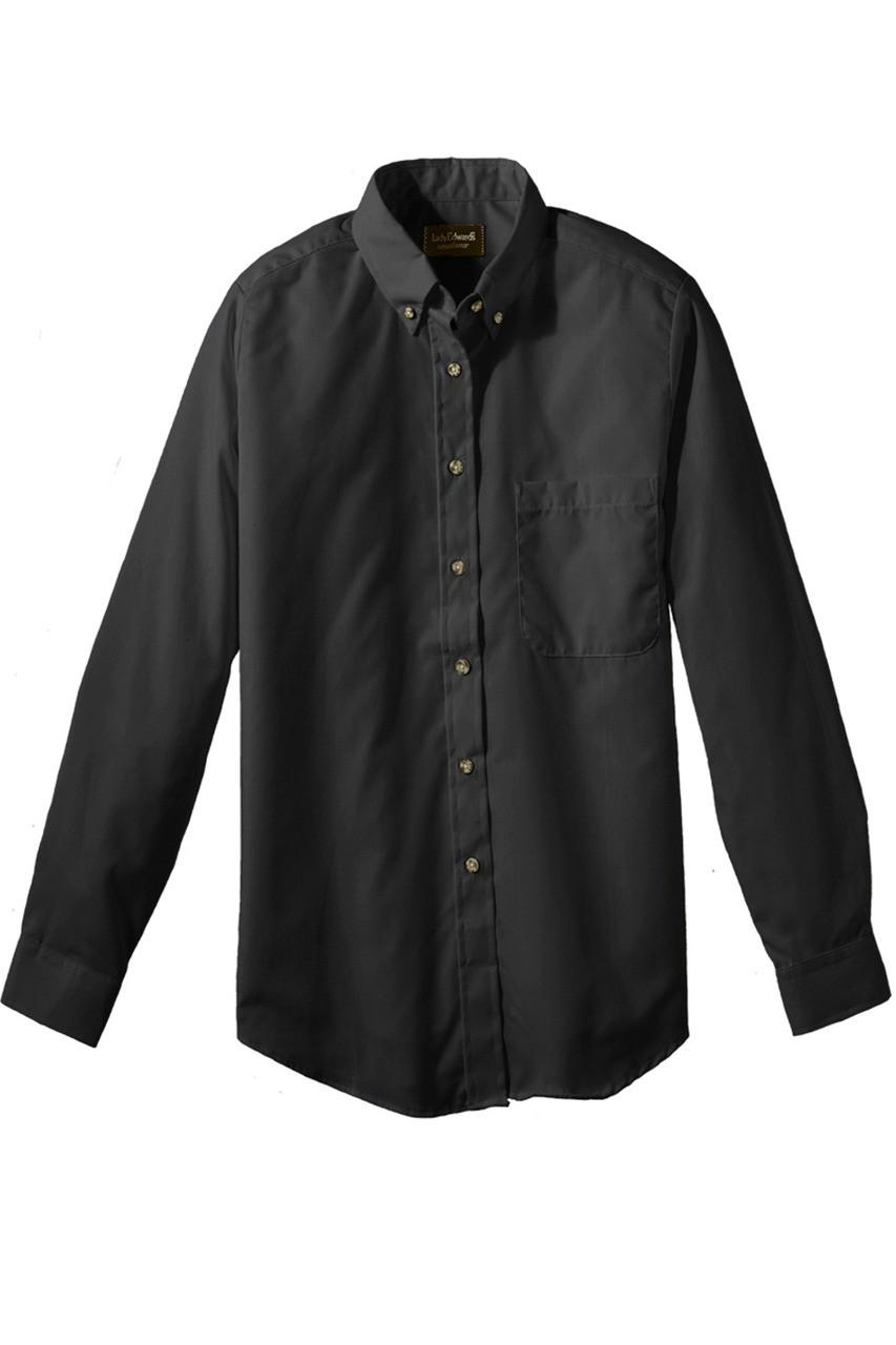 Ladies best value long sleeve uniform work shirt with for Black long sleeve work shirt