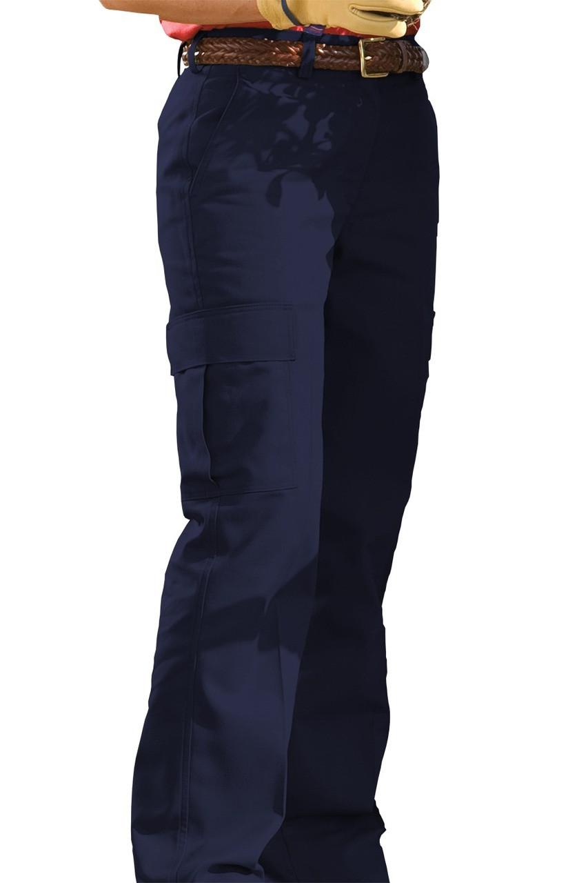Unique Navy Blue Work Pants For Women - Pi Pants