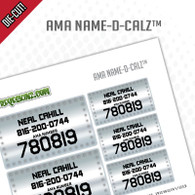 AMA Name & Number Decals
